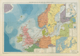 North Sea & Baltic. Cables Wireless Stns Land visibility Shipping lines 1952 map